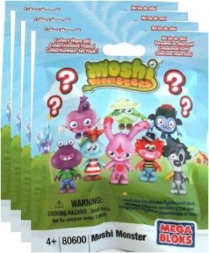 Moshi Monsters Mega Bloks Blind Foil Packs x 4 Bags